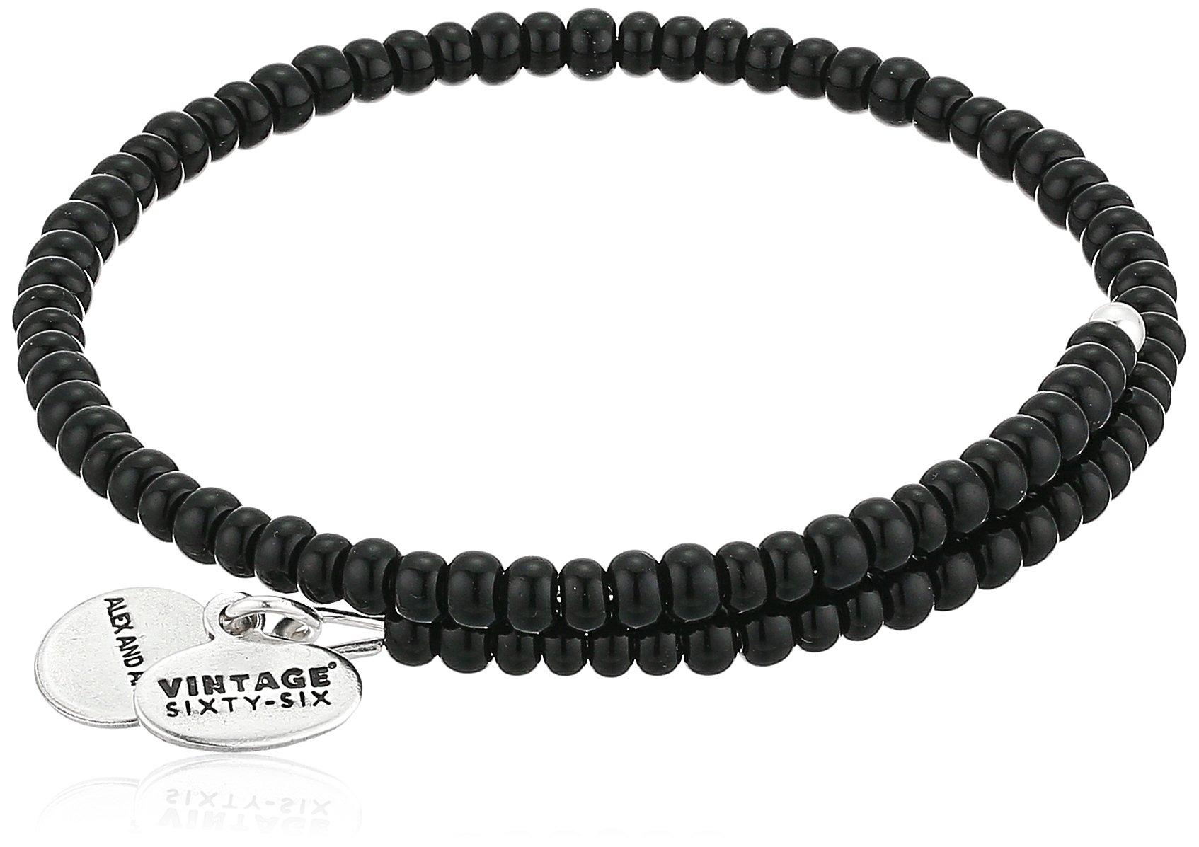 Alex and Ani Women's Primal Spirit Wrap Wrap Bracelet, Charcoal, Expandable