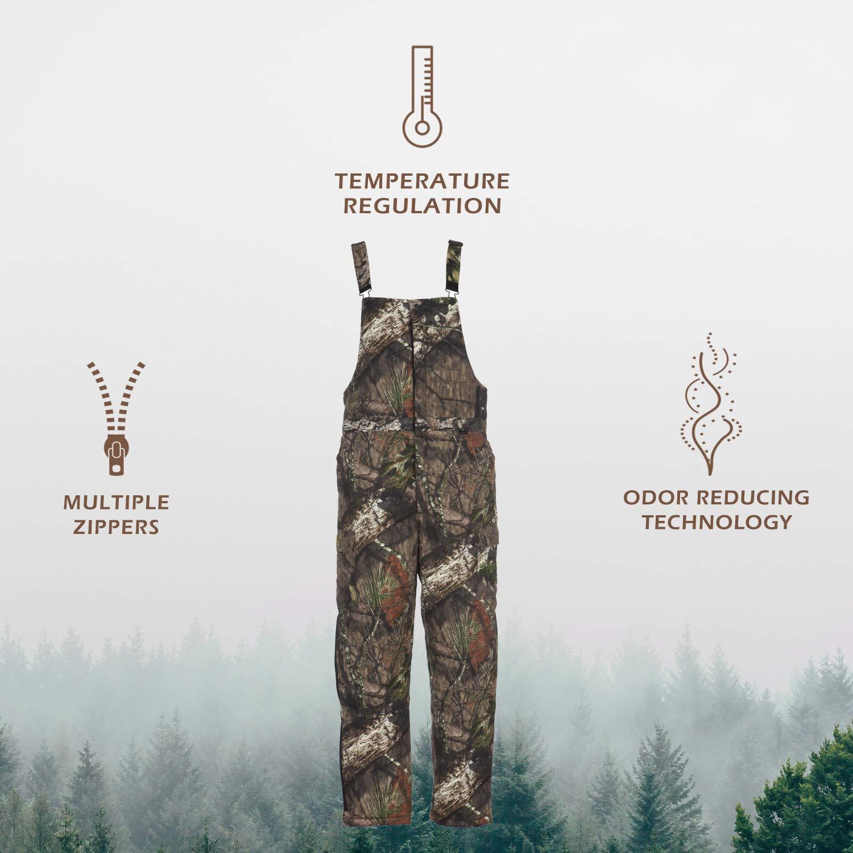 S3 Odor Control Temperature Regulation Polyester//Wool M SCENTBLOCKER Youth Commander Insulated Bib Realtree Edge