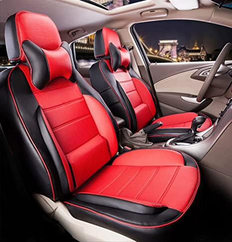 Amazon.com: Auto decorun Deluxe Leather Asiento de coche ...