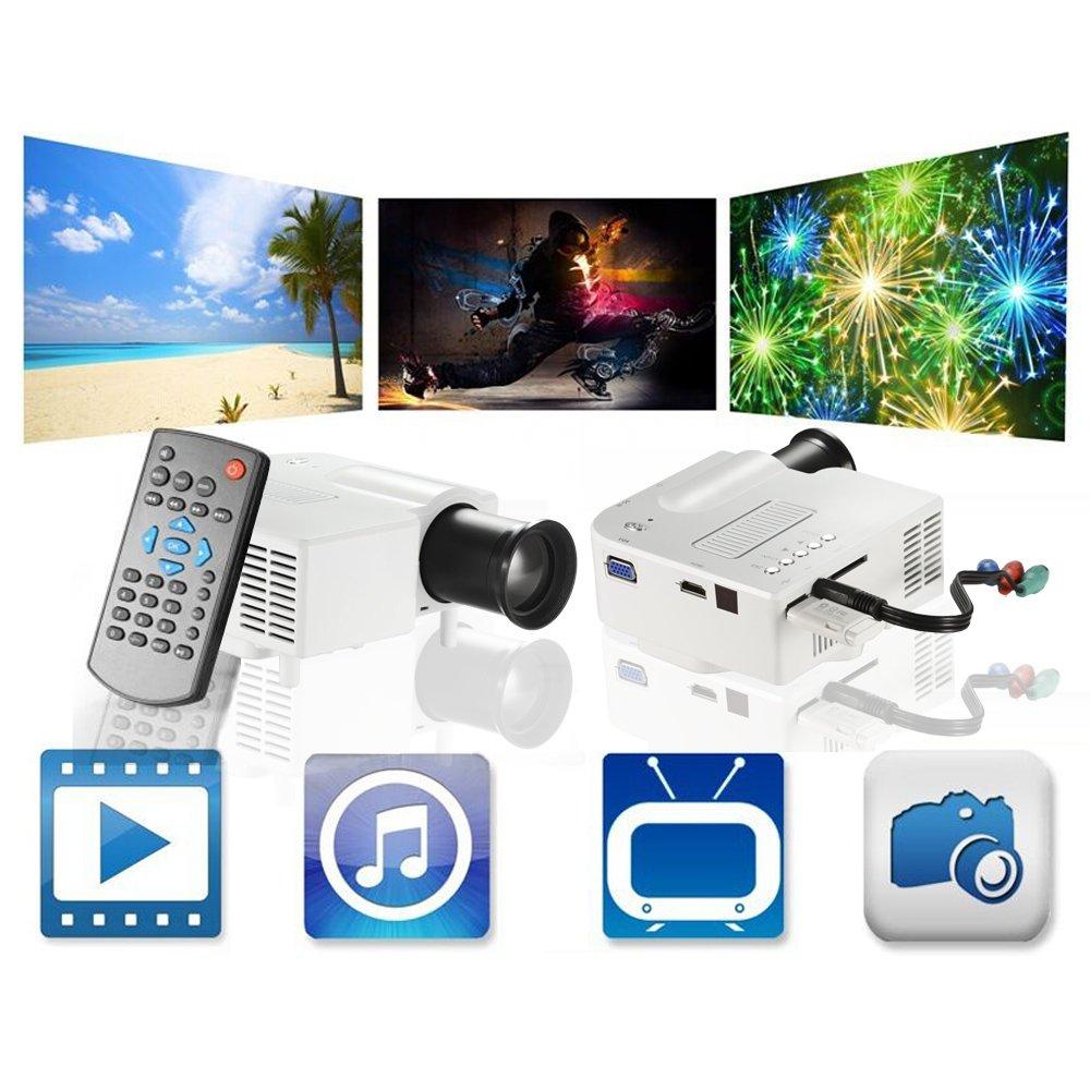 Micro proyector Meyoung HD película portátil proyectores 1080P ...