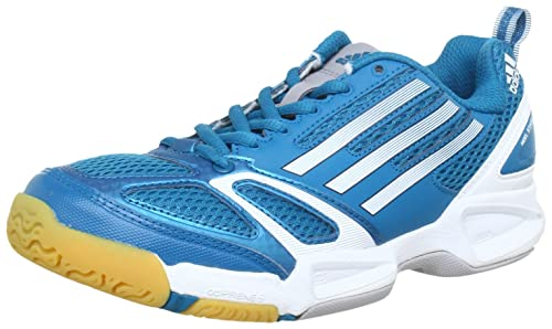 adidas Feather Elite W G65112, Damen Hallenschuhe, Türkis (Vivid ...