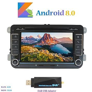Android 8.0 Autoradio, Hi-azul In-Dash 2 DIN Radio de Coche Navegación
