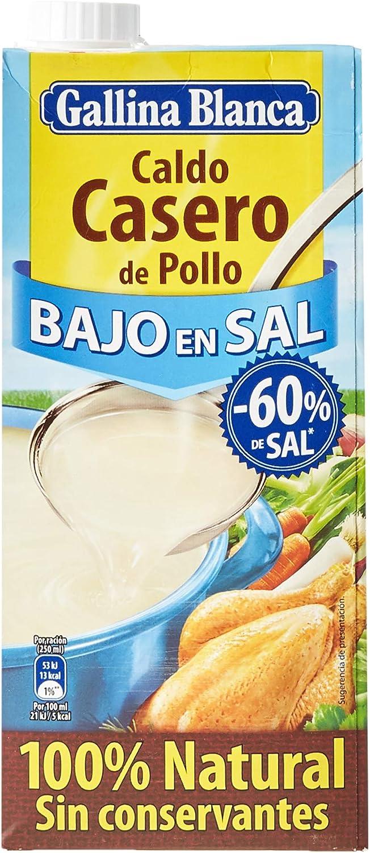 Gallina Blanca Caldo Casero De Pollo Bajo En Sal 100 Natural 1l Amazon Es Alimentación Y Bebidas