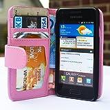 youcase - Samsung Galaxy Advance S I9070 Tasche Flip Case Schutz Hülle Wallet Brieftasche EC-Karte Klapptasche Magnet pink
