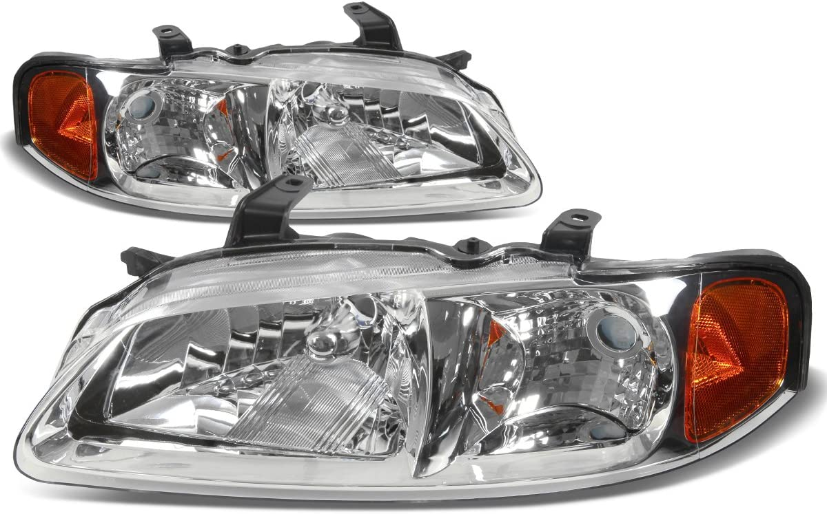 DNAMotoring HL-OH-NS00-CH-AM Headlight Assembly Driver and Passenger Side