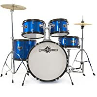 Batería Acústica Junior de 5 Piezas de Gear4music Azul