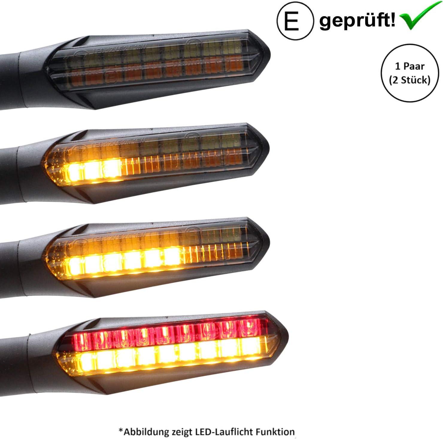 Motorrad LED Gabel Licht Universal 5Flexibles LED Streifenlicht Blinker vorne Blinker 36 LED Lichter f/ür Motorrad