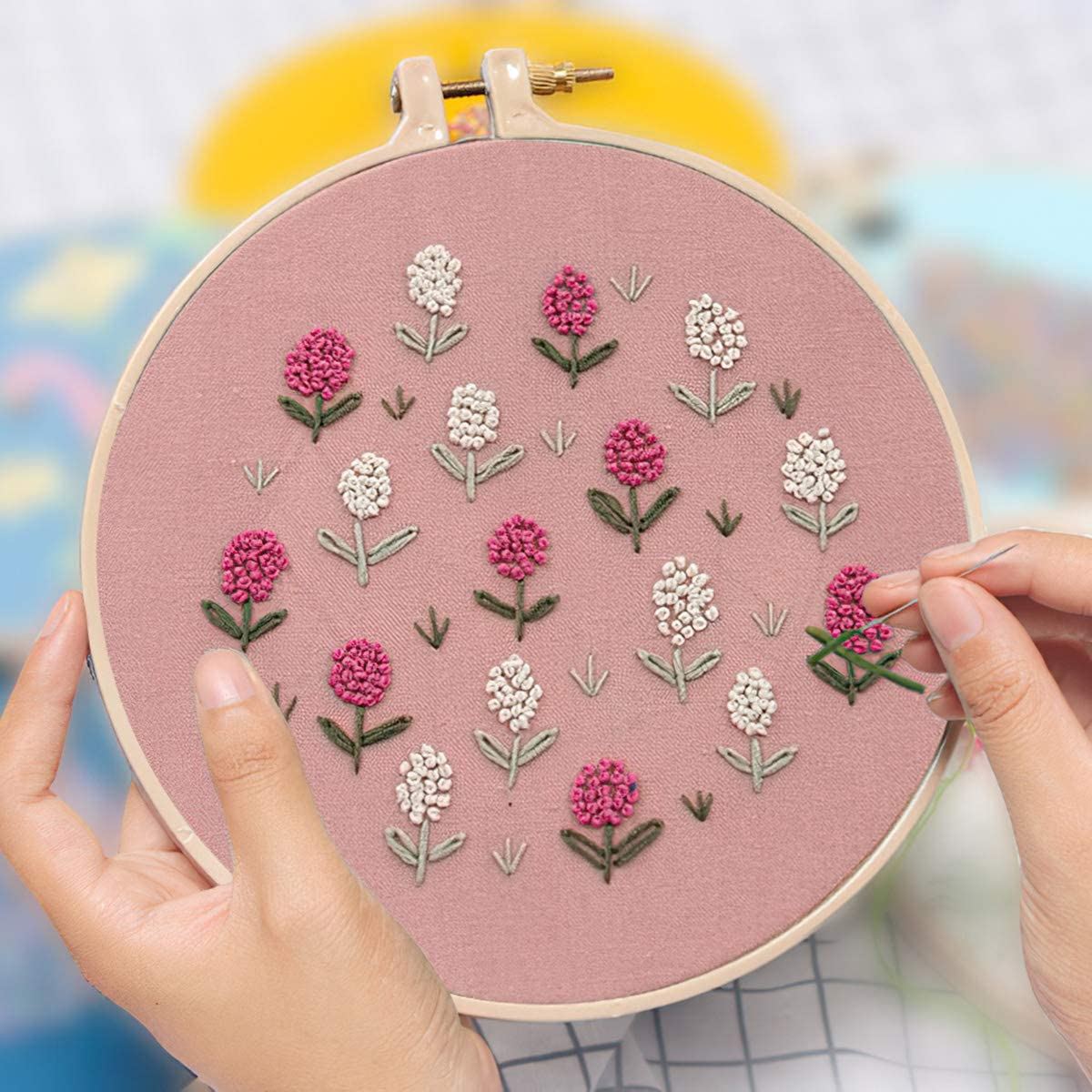 Coin Purse Making Kits with Complete Tools Needlework Kits Embroidery Craft