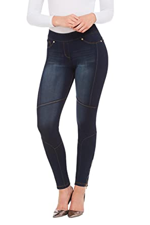 3aa58e83c9c Petite LUXE DENIM SLIMS Skinny Biker Jeans Twilight Distress PXS at Amazon  Women's Jeans store