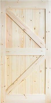 diyhd 42 in84 en pino con nudos puerta corrediza de granero madera ...