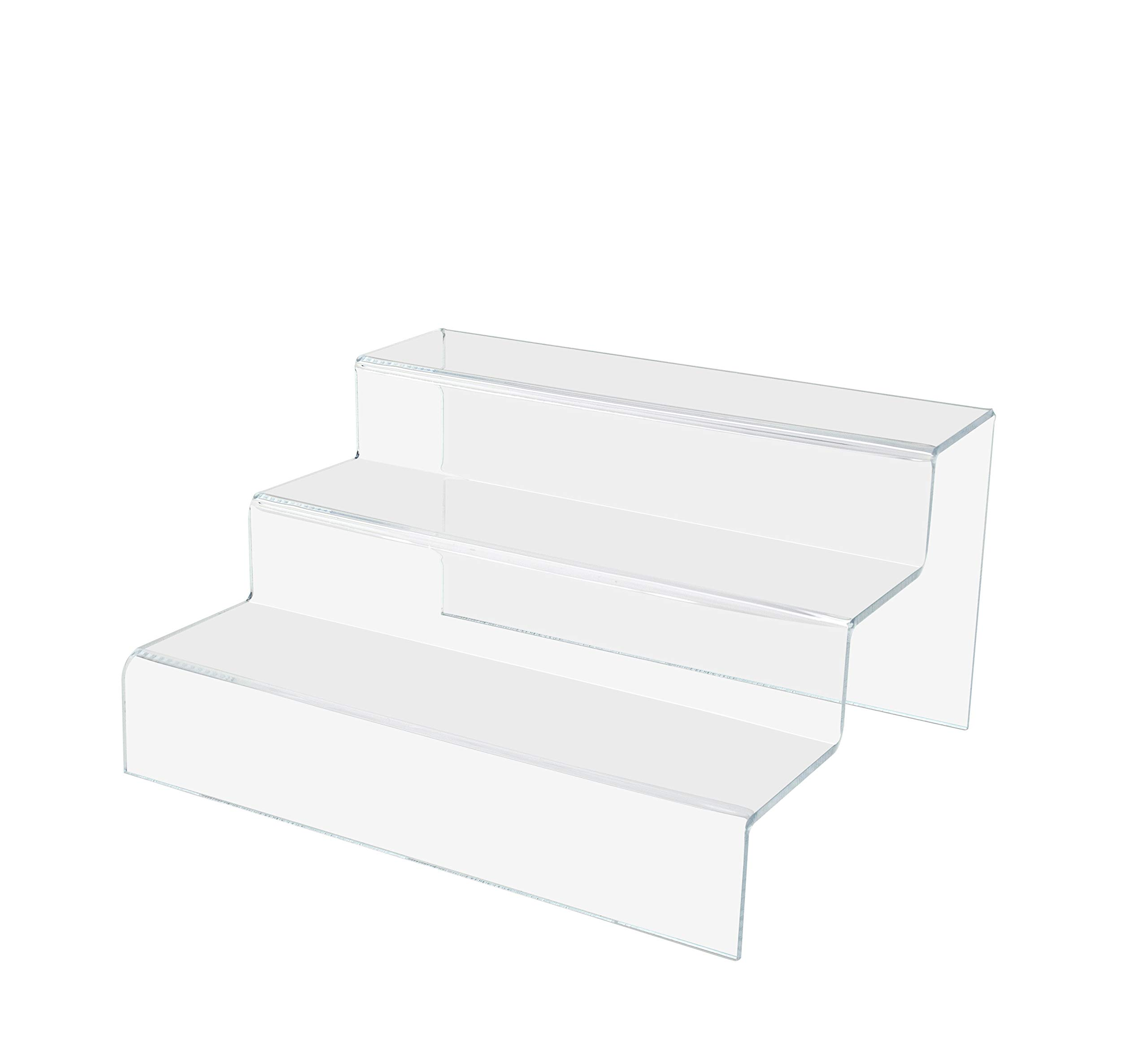 Marketing Holders 3 Tier Double Stairway Retail Display Countertop Trinket Collectible Showcase Tiered Riser Stand Pack of 5 by Marketing Holders