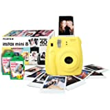 Instax Mini 8 Instant Camera Bundle with 40 Shots - Yellow (Discontinued by Manufacturer)