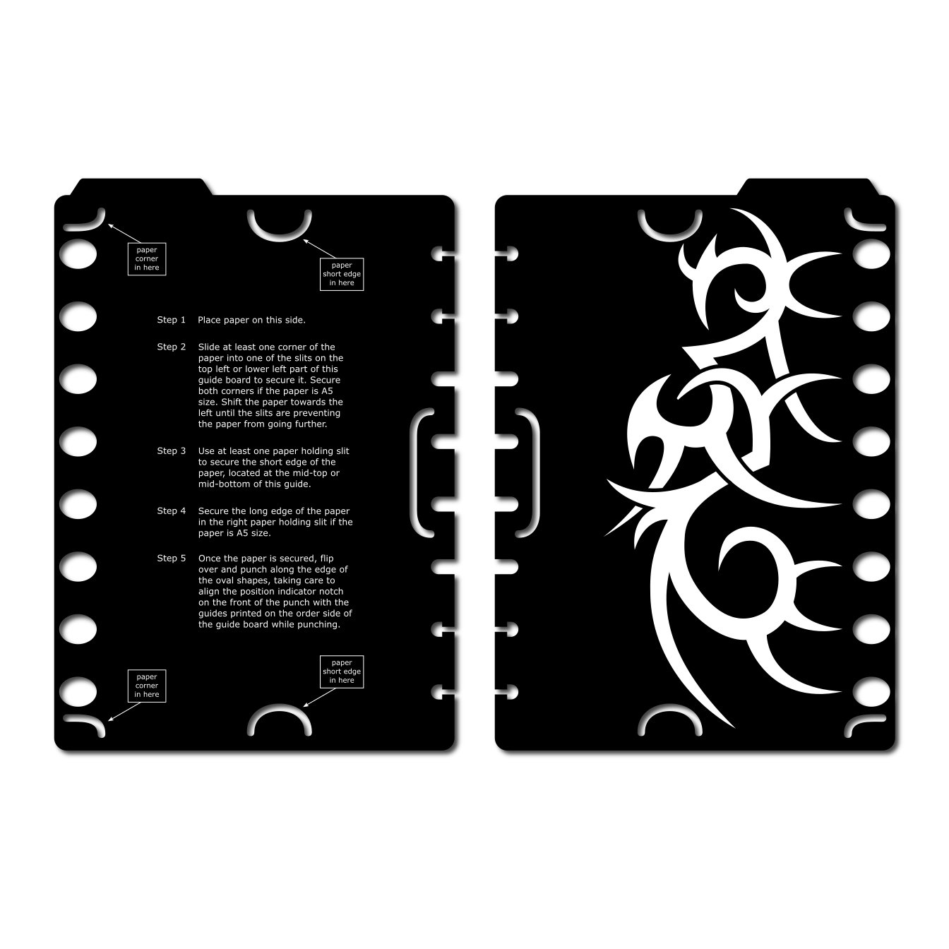 A5 Discagenda Mini Disc-binding Puncher With Punch Template