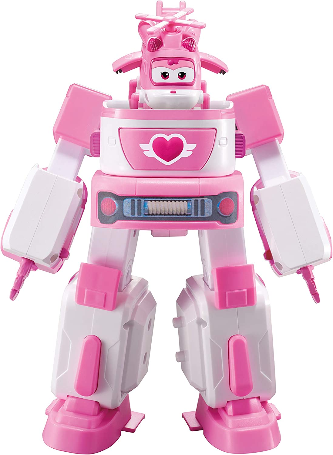 Super Wings Deluxe Transforming VehicleSeries 2Dizzy Pink and White.