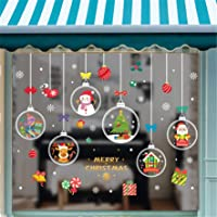 JINLL 4 Vellen Kerstraam Elektrostatische Stickers Kerst Raamdecoratie Sneeuwvlokken Kerst Raamstickers Kerst…
