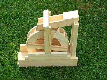 Wasserrad Mühlrad Vollholz Handarbeit Neu Bachlauf Garten deko funktionsfähig