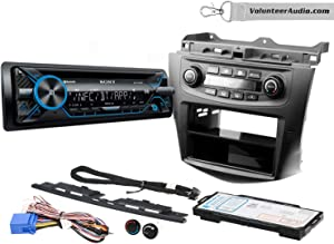 Sony MEX-N4200BT Single Din Radio Install Kit With CD Player, USB/AUX Fits 2003-2007 Honda Accord (Factory climate controls)
