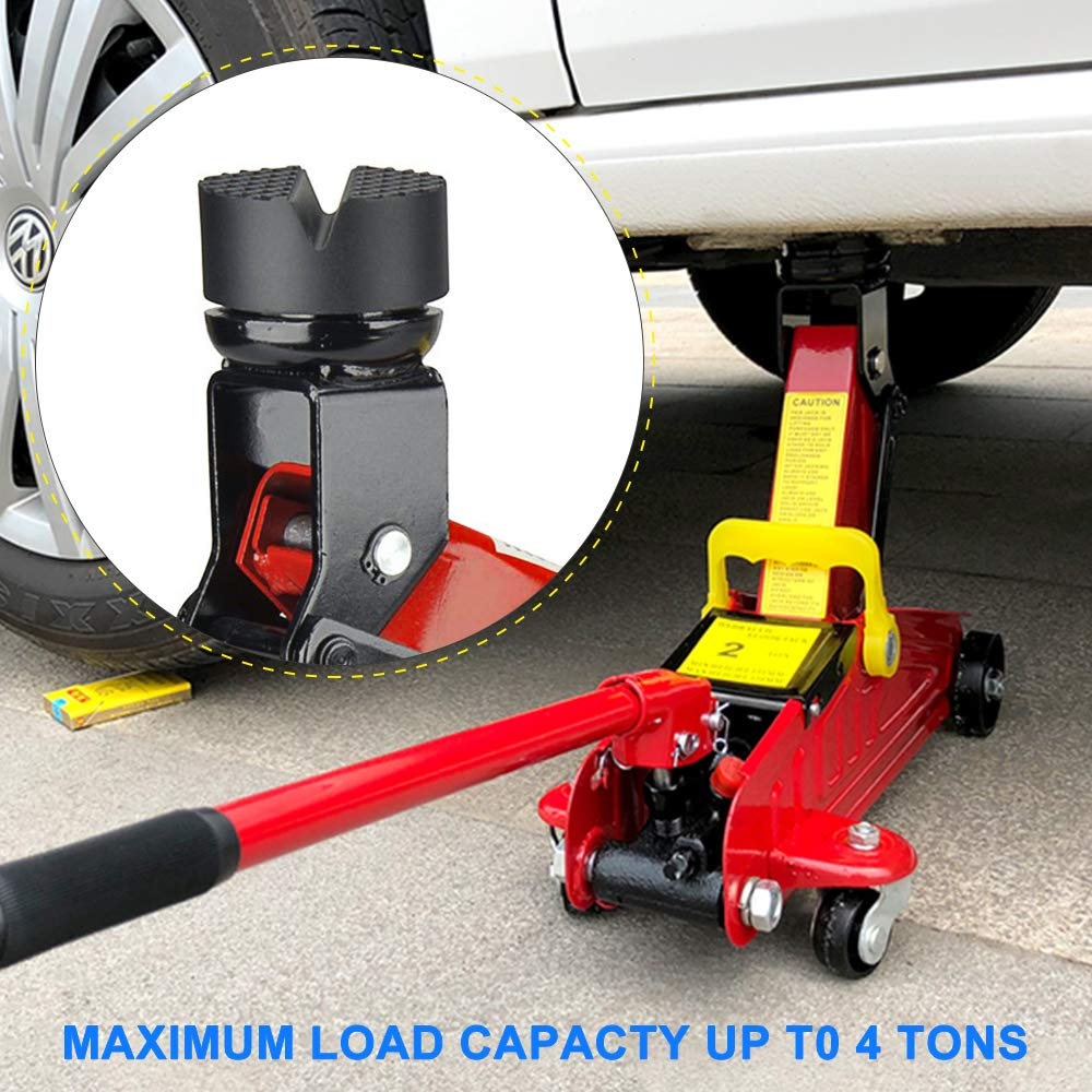 C100AE Improved Car Jack Rubber Pad for Car Jack Universal Non-Slip Rubber Pad for Car Jack Protection for Cars and Car SUVs from Scratches All Sizes