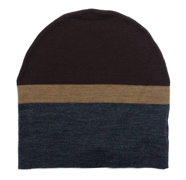 3ebd977f2e0b Amazon.com  Gucci Men s Beanie Ski Wool Knit Cap Hat with Signature Leather  353999 (Large)  Clothing