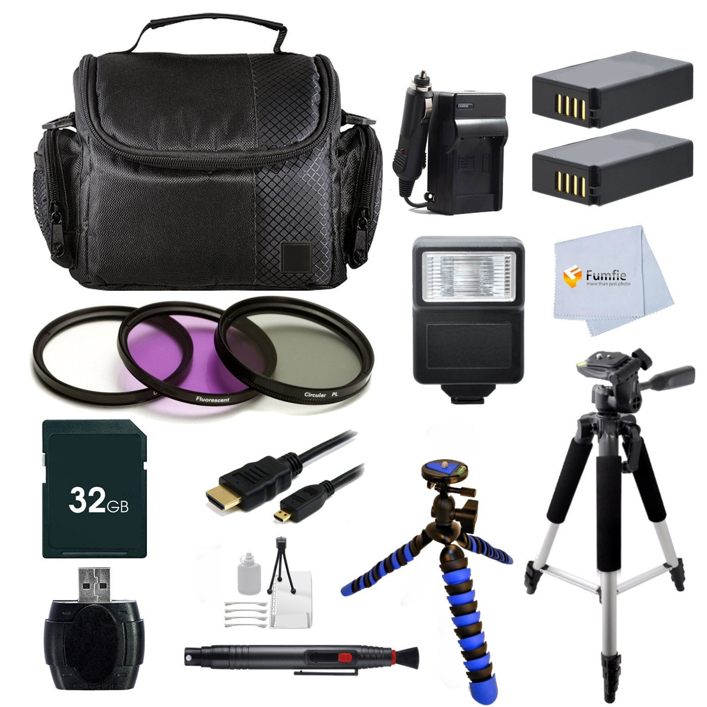Advanced Accessory Kit for Nikon COOLPIX P900 Digital Camera Includes: 32GB Memory Card + 2 Batteries + 57' Tripod & more Fumfie