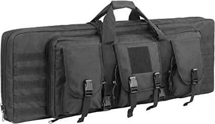 Heavy Duty 600D Double Carbine Rifle Bag Soft Gun Case Hunting Storage Backpack