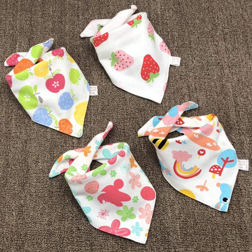 Bebé, toalla de saliva de triángulo de algodón, bebé, paño de ...