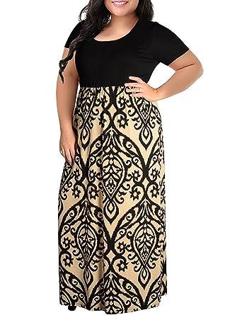 c60abaf3357 Kancystore Womens High Waist Plus Size Dresses Elegant Long Evening Maxi  Dress Light Blue XL