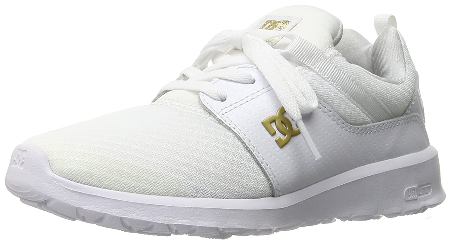DC Women's Heathrow SE Skate Shoe B0184OIRPS 10.5 B(M) US|White/Gold
