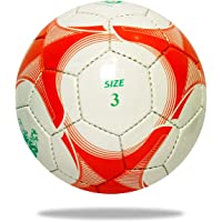 Lordz Kids Soccer Ball, Kids Hand Stitch Football (White Red,3)