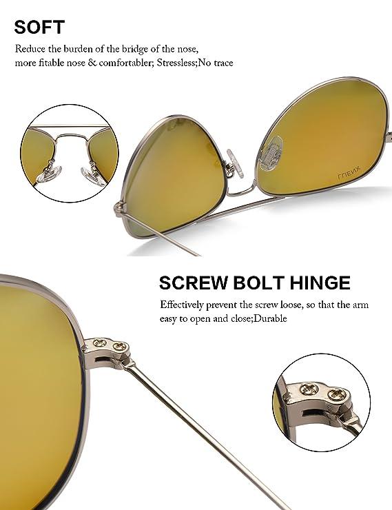 LUENX - Gafas de sol polarizadas de aviador para hombre con funda - UV 400 protección marco de metal Azul 5-Dark blue: Amazon.es: Ropa y accesorios