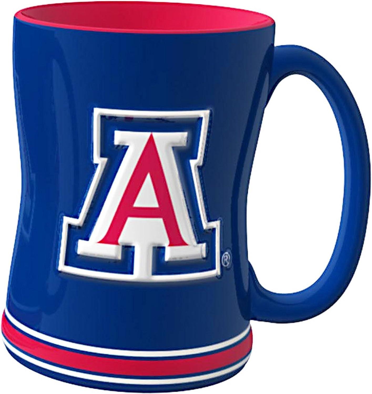 NCAA Arizona Wildcats Sculpted Relief Mug, 14-Ounce
