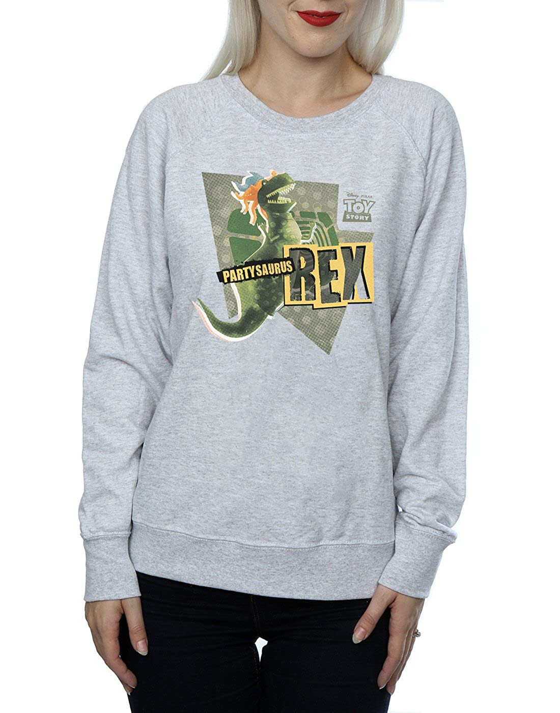 e69f5cbe5cc Amazon.com  Disney Women s Toy Story Partysaurus Rex Sweatshirt  Clothing