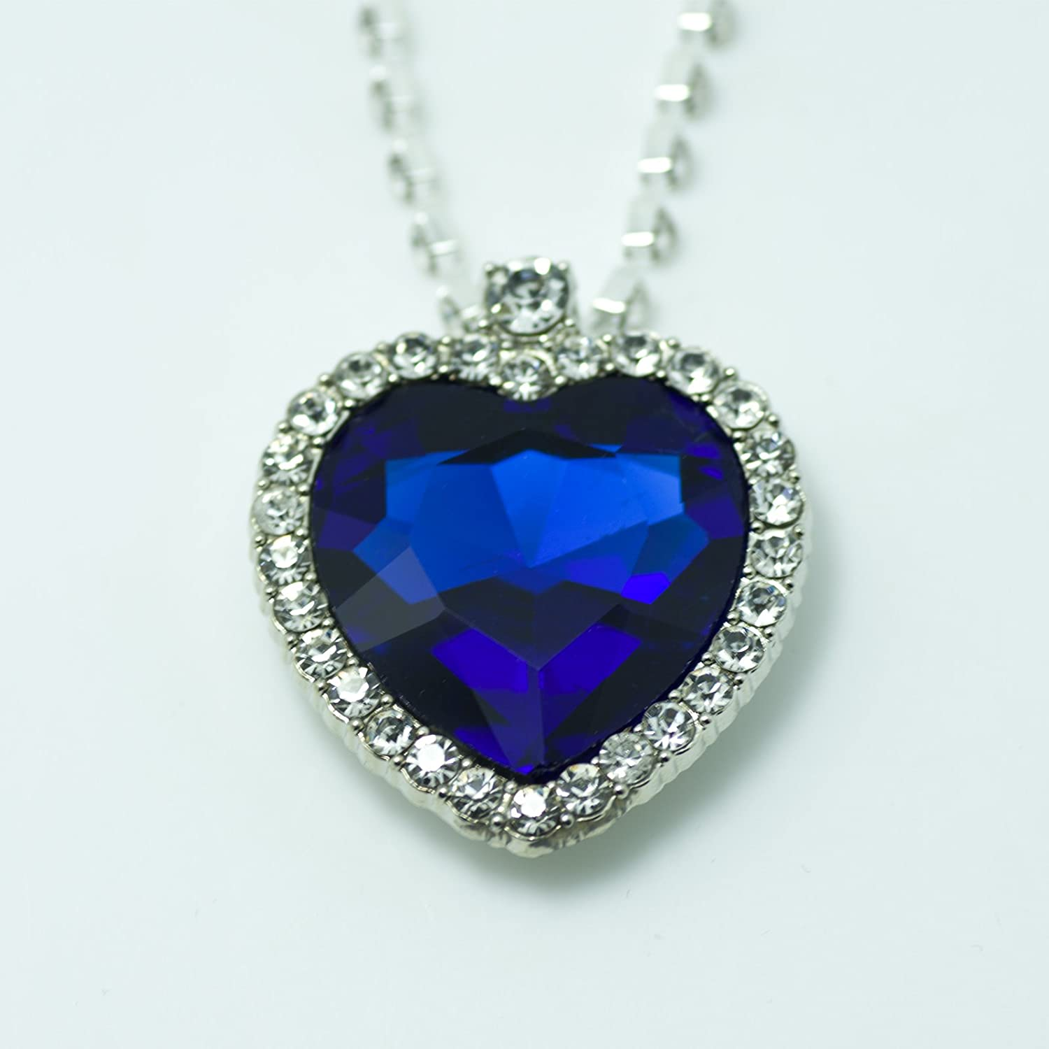 Heart of ocean titanic blue heart crystal rhinestone diamond heart of ocean titanic blue heart crystal rhinestone diamond necklace of ross amazon jewelry aloadofball Choice Image