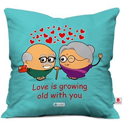 Amazon Com Indibni Valentine Day Gift Love Is Growing Old With You