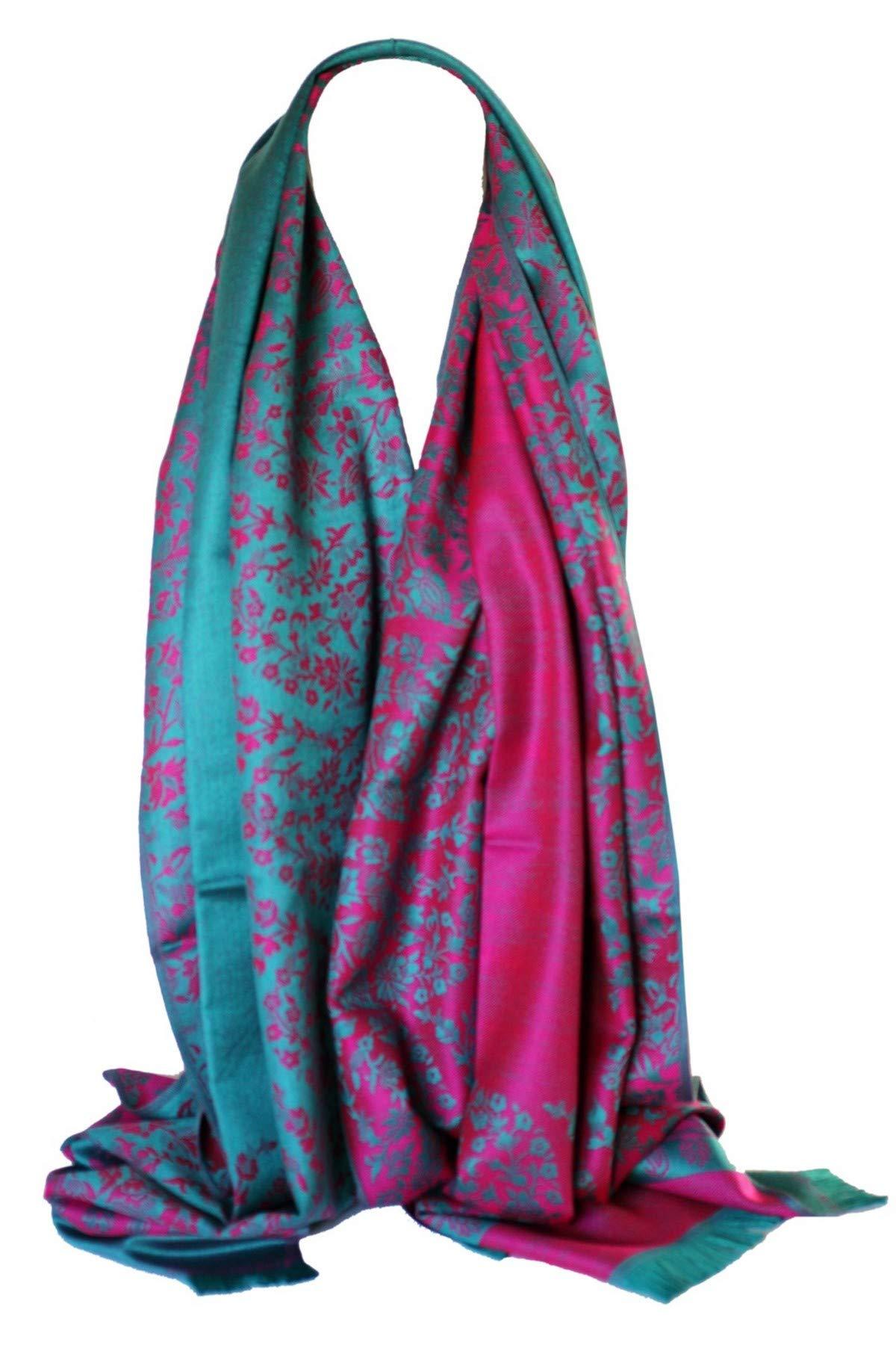 3550597e22e0 Bullahshah Qualité deux faces impression libre en relief Pashmina sensation  Wrap écharpe étole châle product image