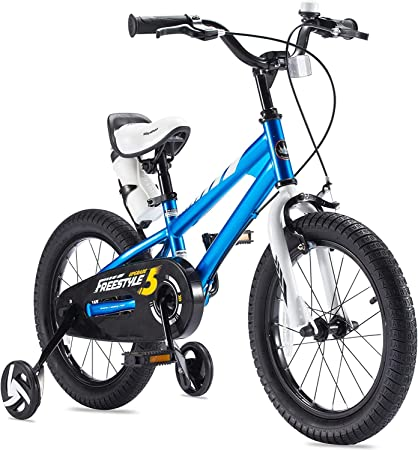 "16/"" Boys Bike 1 Speed Kids Bicycle Riding Toy with Training Wheel Blue//Orange"