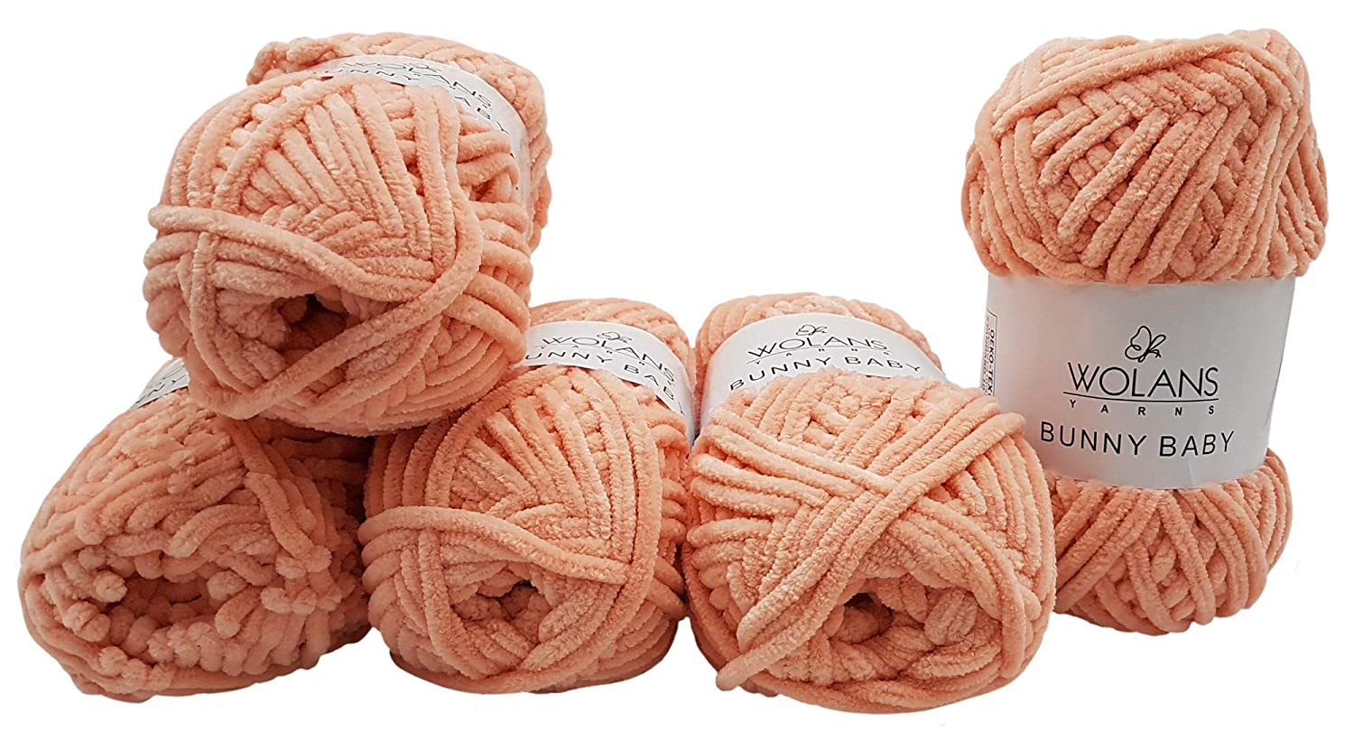 Bunny Baby 5 x 100g Wolans Baby Wool Knitting Wool//Yarn Super Bulky Supersoft 500 gram 35/_x/_25 CM Rot 1008