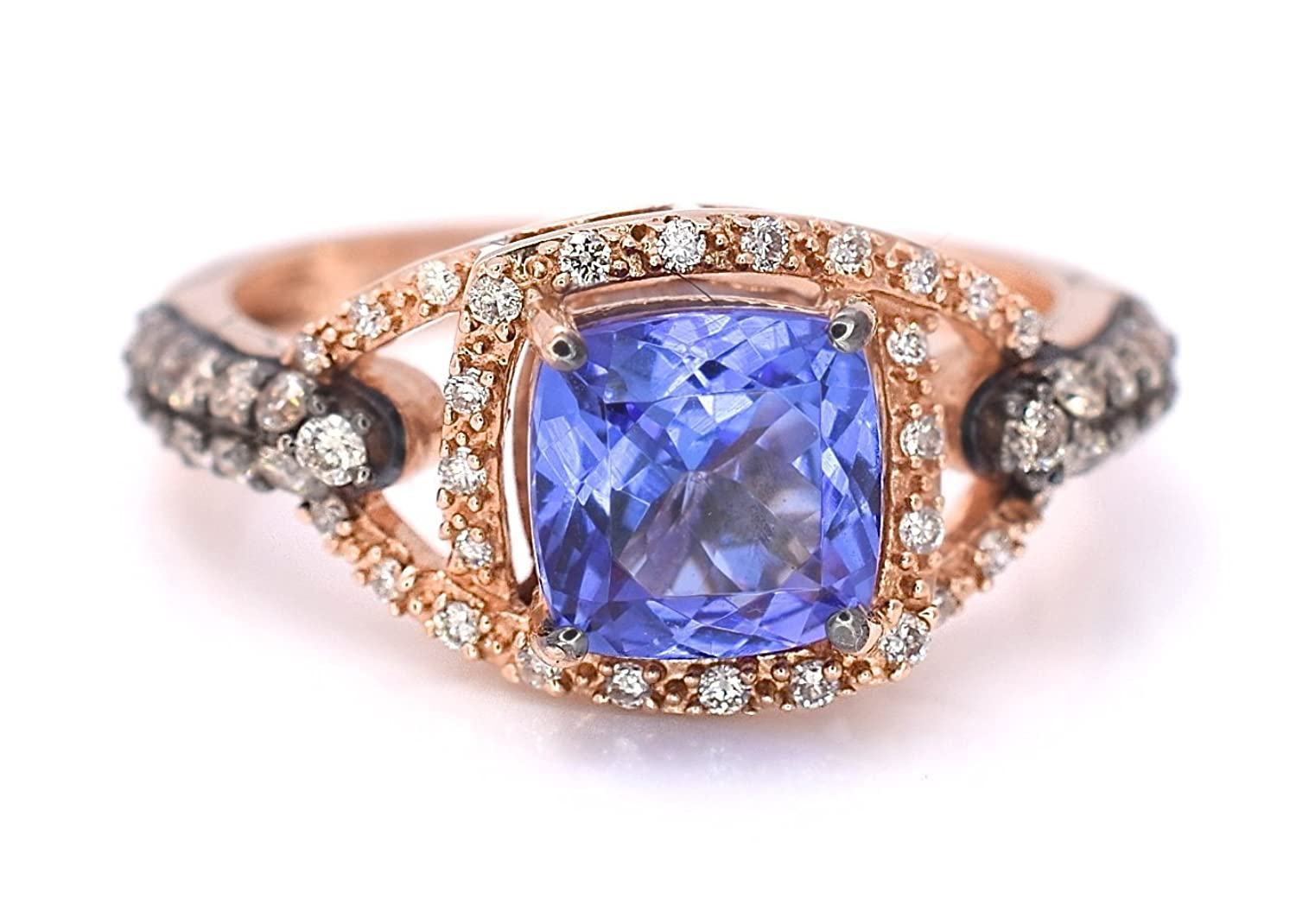 gold vanilla diamonds chocolate ring vian with levian product tanzanite and in strawberry le