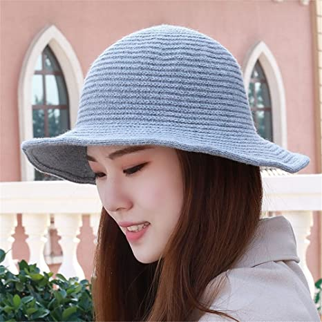 Invierno Gorra visera simple tapa de pura lana tejida de tapa caliente  pescador hat hat de ea4387f673c