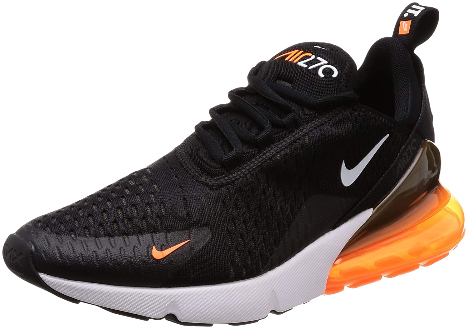 NIKE Air Max 270, 270, 270, Chaussures de Running Compétition Homme 41 EU|Multicolore (Black/White/Total Orange) 9d9f90