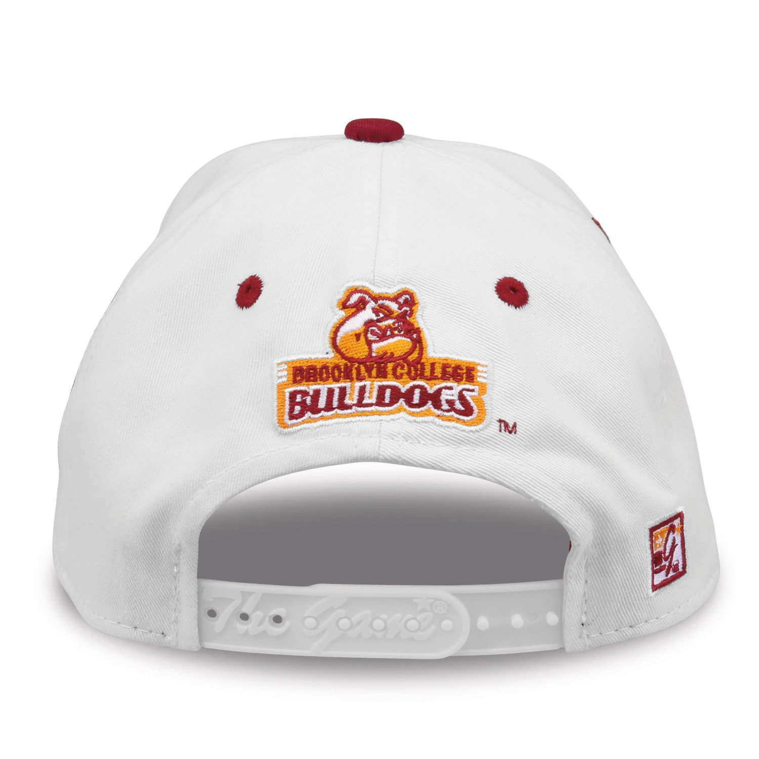 outlet store sale faf04 be38e Amazon.com   The Game NCAA Brooklyn College Bulldogs Bar Design Hat, White,  Adjustable   Clothing
