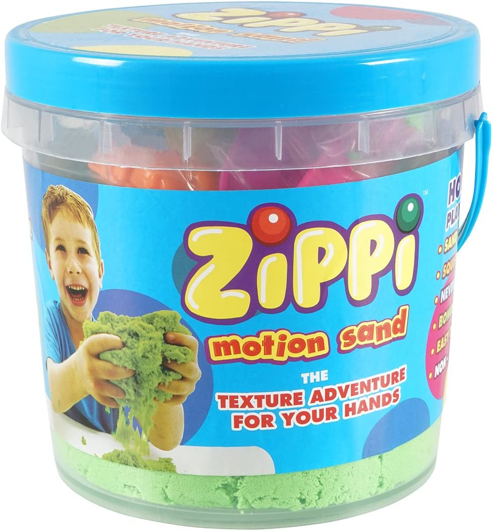 coloured play sand sculptable textured JML Zippi Motion Sand: Mouldable Green