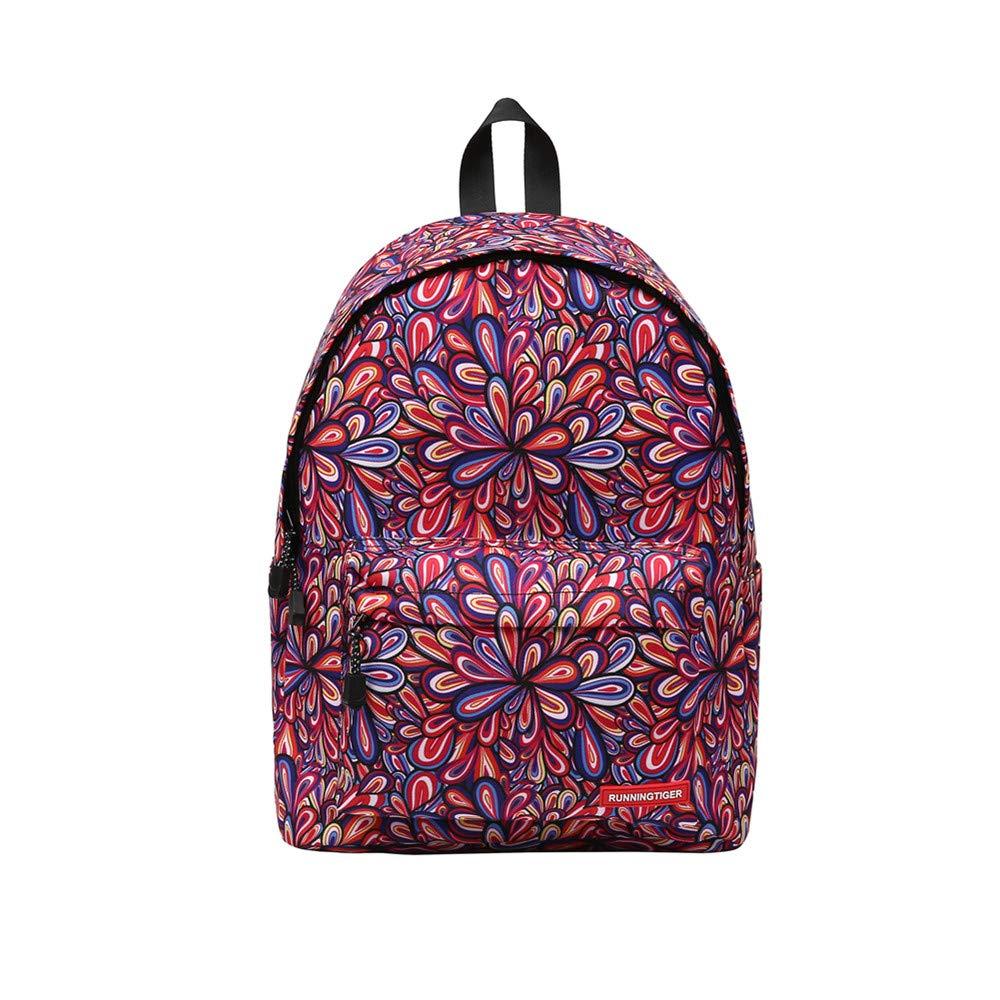 Fashion Leisure Printing Zipper Backpacks, Businda backpack for women and men rucksack school bags travel bags