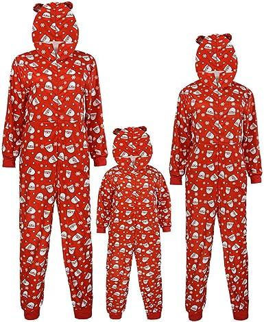 K-Youth Pijamas Familiares Navideñas Body Bebe Mono Niños ...