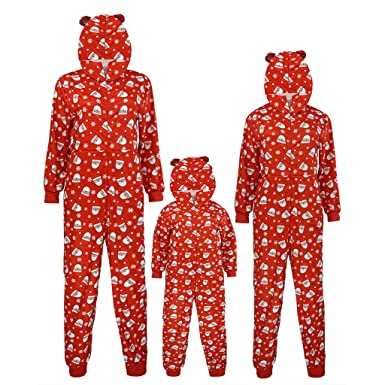 JiaMeng Navidad Familia Pijamas Ropa de Dormir Juego de Navidad ...