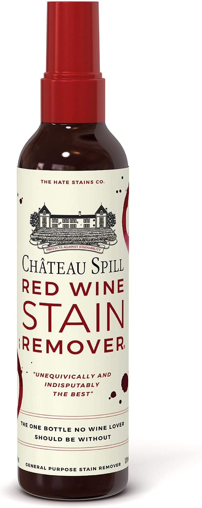 Chateau Spill Red Wine Stain Remover Super Concentrated And Safe Spray Cleaner For New And Set In Wine Stains On Carpet Rugs Clothing Upholstery And Laundry 120ml 4 Oz Spray Bottle
