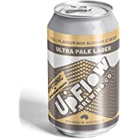UpFlow Ultra Pale Lager Non-Alcoholic Sports Beer 0.5% ABV, 24 x 355mL