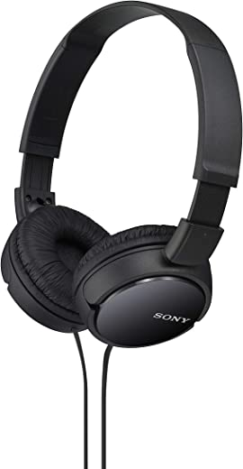 Sony MDRZX110/BLK ZX Series Stereo Headphones (Black)