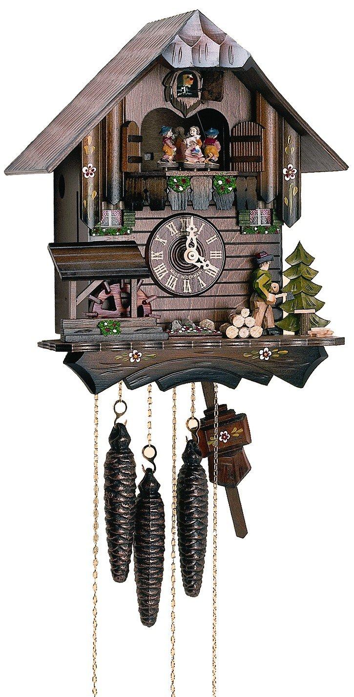 1-Day Black Forest House Children Figurine Cuckoo Clock