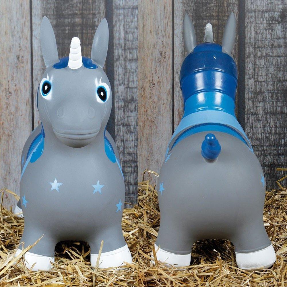 netproshop Kleinkind Spielzeug Hopser H/üpfpferd aus Gummi